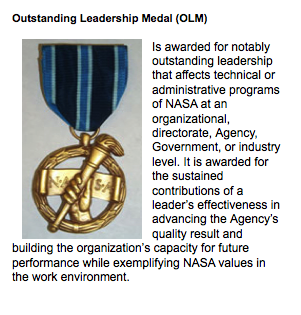 NASA Outstanding Leadership Medal - Pics about space